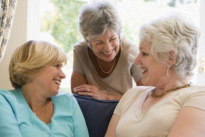 Residents at senior living in Florida