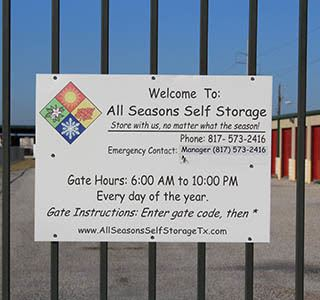 Granbury Self Storage With Gated Entrance