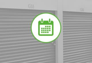 Variety of different units and sizes for the self storage facility in