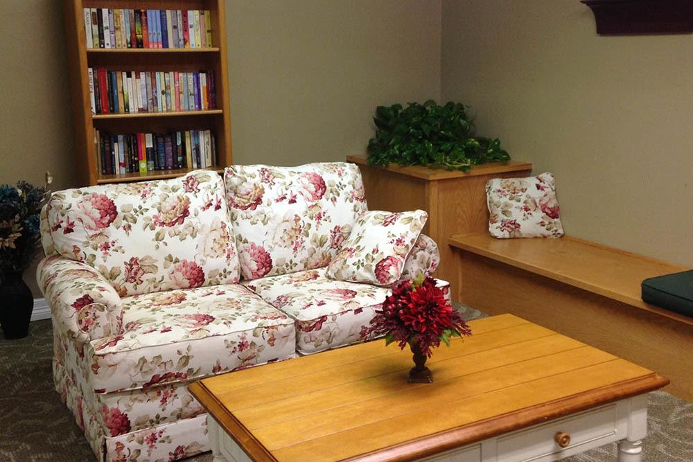 Enjoy a book in our library at Westbrook Gardens