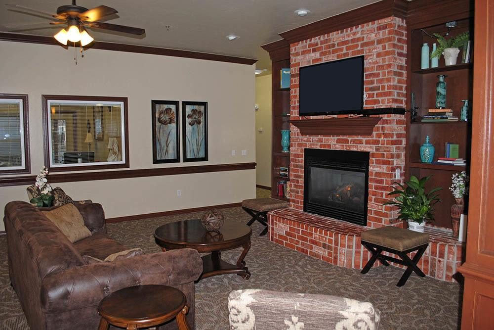 Communal TV and seating area at Westbrook Gardens