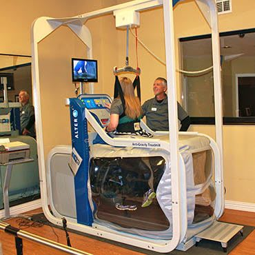 Physical therapy equipment at Adams PARC Post Acute Recovery Center