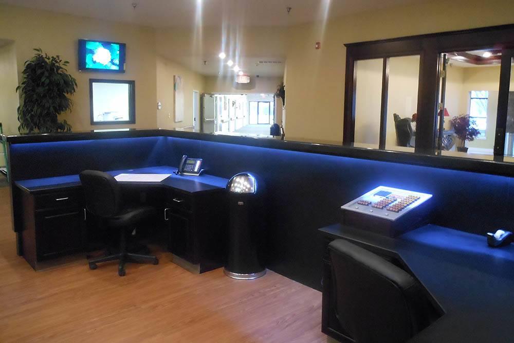 Adams PARC Post Acute Recovery Center nurses station