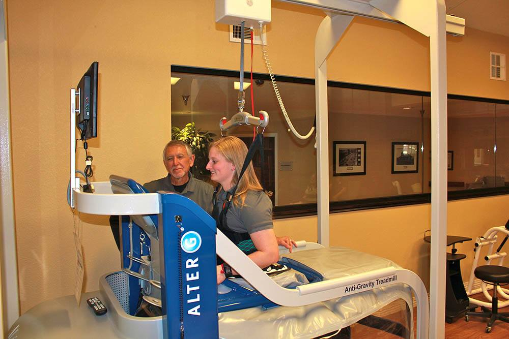 Our therapy equipment includes the AlterG anti-gravity machine