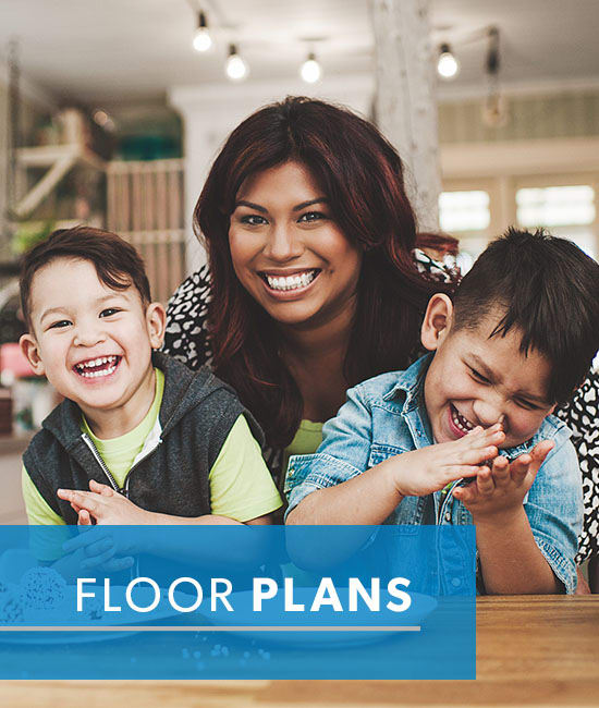 Floor plans at Fox Run Apartments & Townhomes
