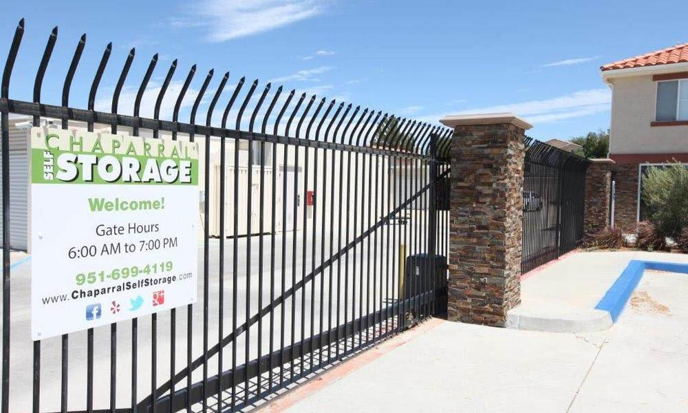 Gate To Chaparral Self Storage