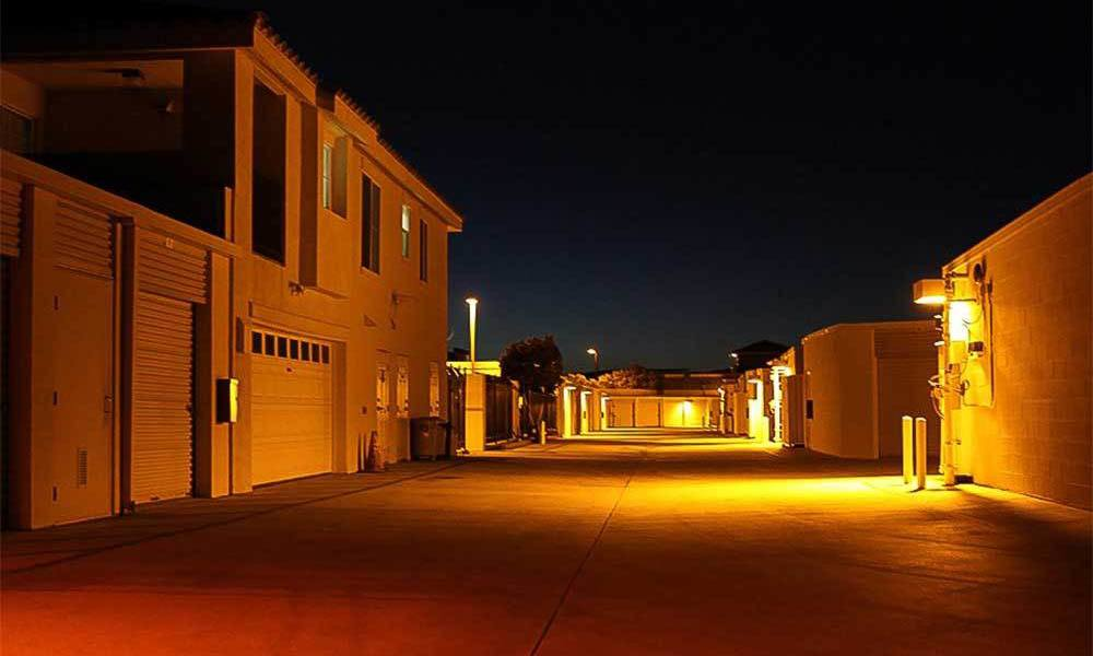Large Lights On At Temecula Self Storage Units