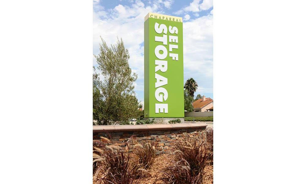 Chaparral Self Storage Signage