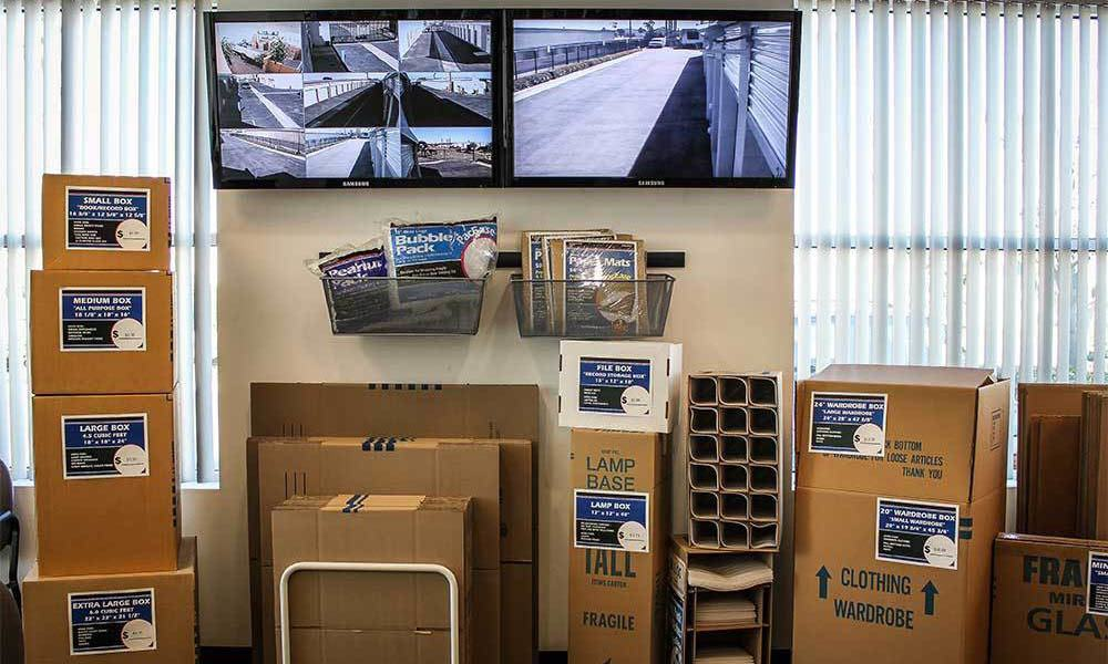 Large Buena Park Self Storage Units Security Video