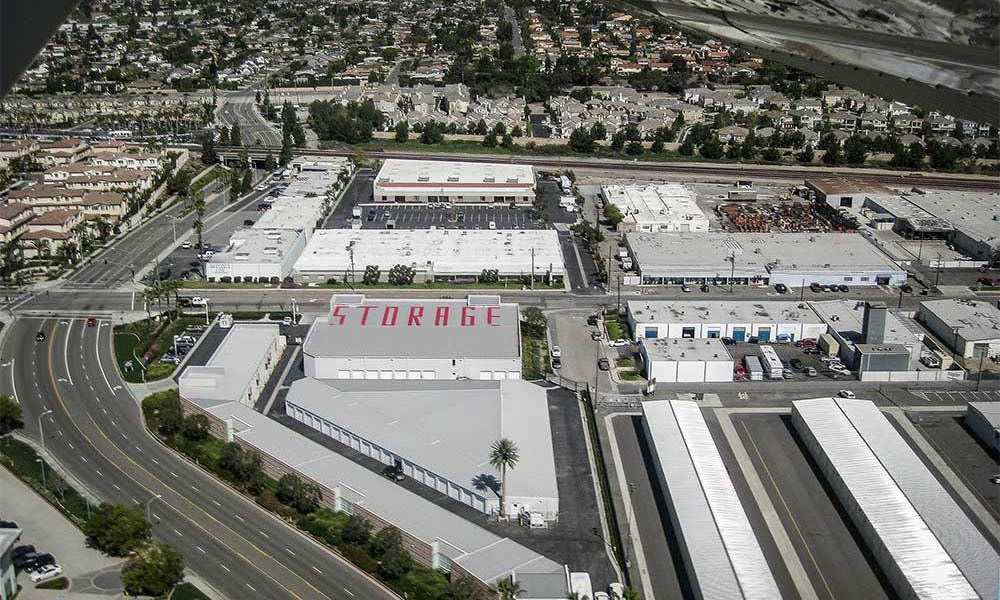 Large Self Storage Units In Buena Park Ariel View