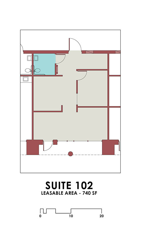 Office Suite 102 at Dale Street Self Storage