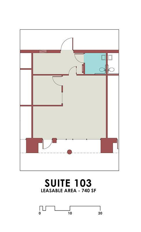 Office Suite 103 at Dale Street Self Storage
