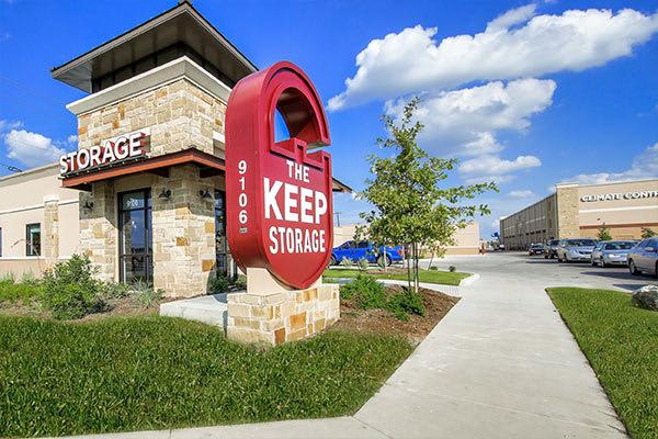 Beautiful exterior of The Keep Storage in San Antonio