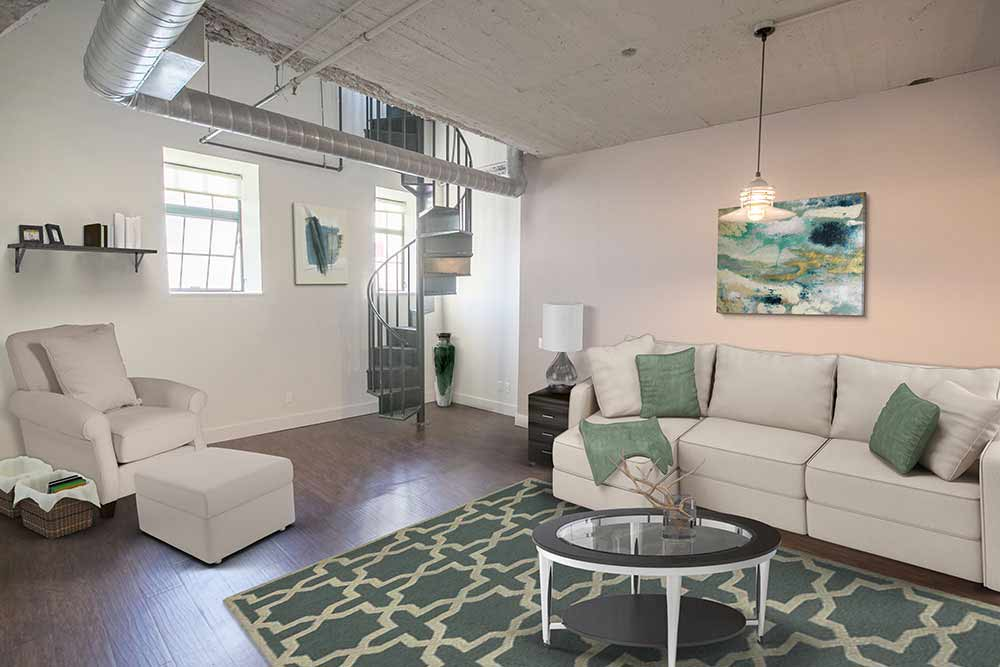 Large living room in Cleveland OH