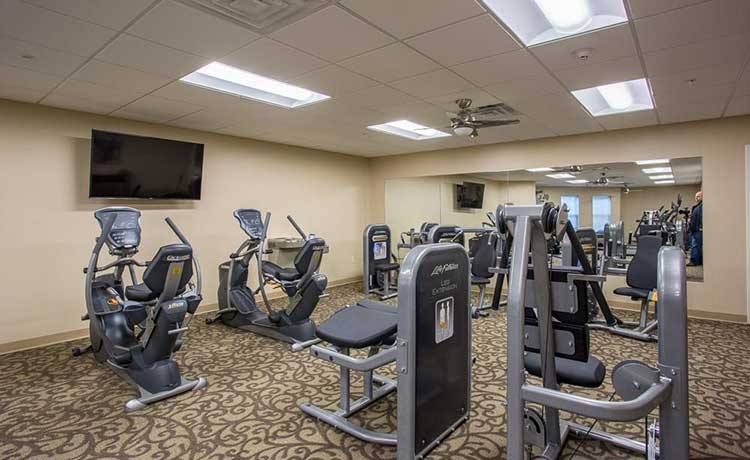 Fitness center at The Marquis at the Woods