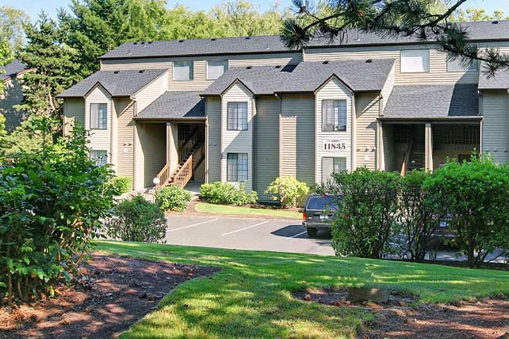 Front view of our paartments in Beaverton