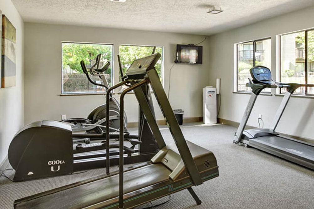 Our apartments feature a fitness center