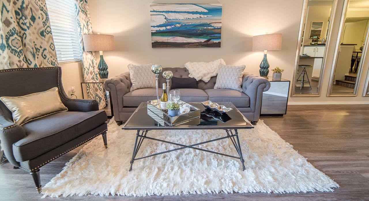 Luxury Living Room Area at The Catherine Townhomes at Scottsdale