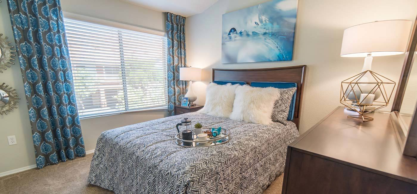 Bedroom area at The Catherine Townhomes at Scottsdale