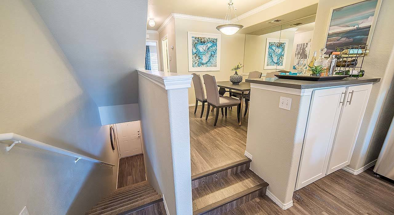 Stairs and Dining Area at The Catherine Townhomes at Scottsdale