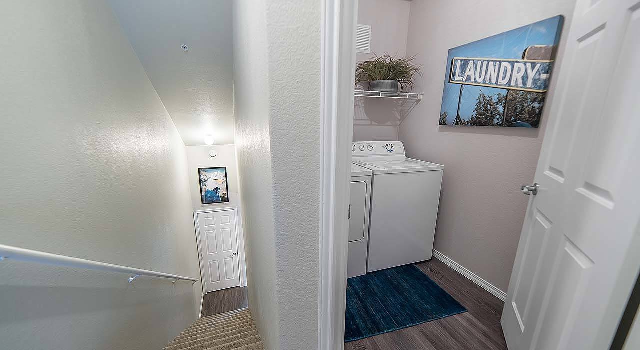 Hall and Washer and Dryer View at The Catherine Townhomes at Scottsdale