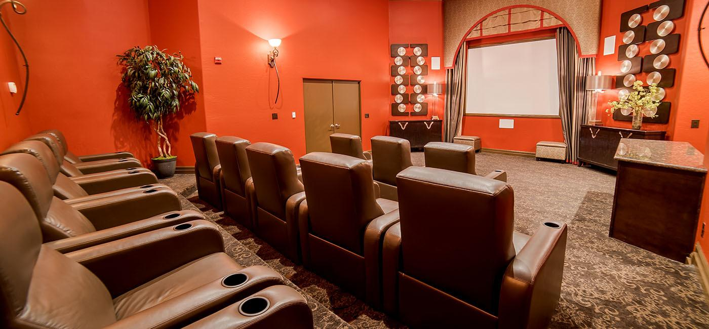 Movie room at The Catherine Townhomes at Scottsdale