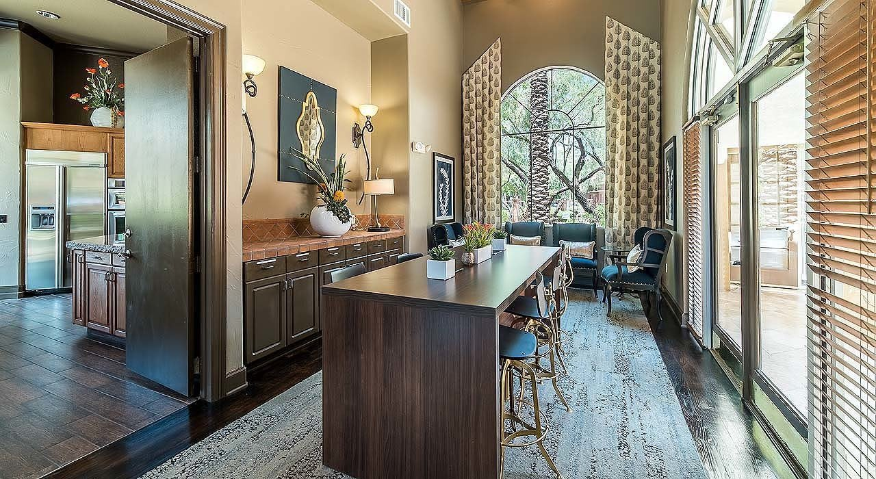 Lobby and Large Seating Area at The Catherine Townhomes at Scottsdale