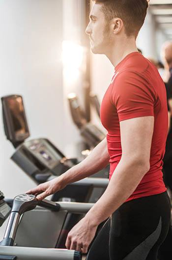 Stay fit with the fitness center at Janus Apartments