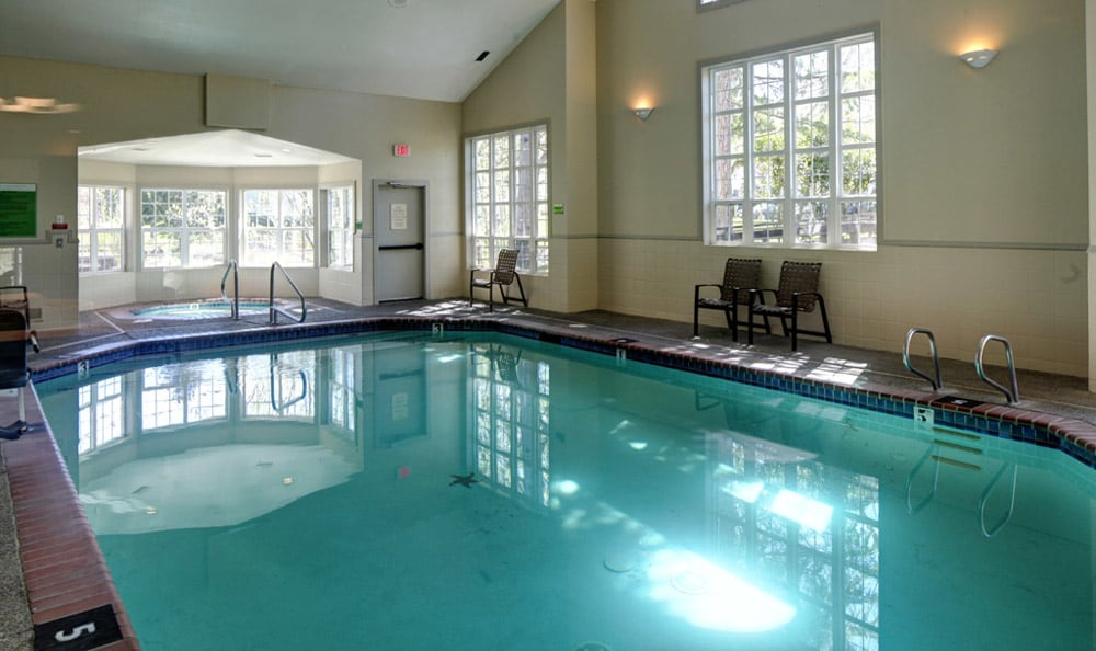 Indoor pool at On The Green at Harbour Pointe in WA