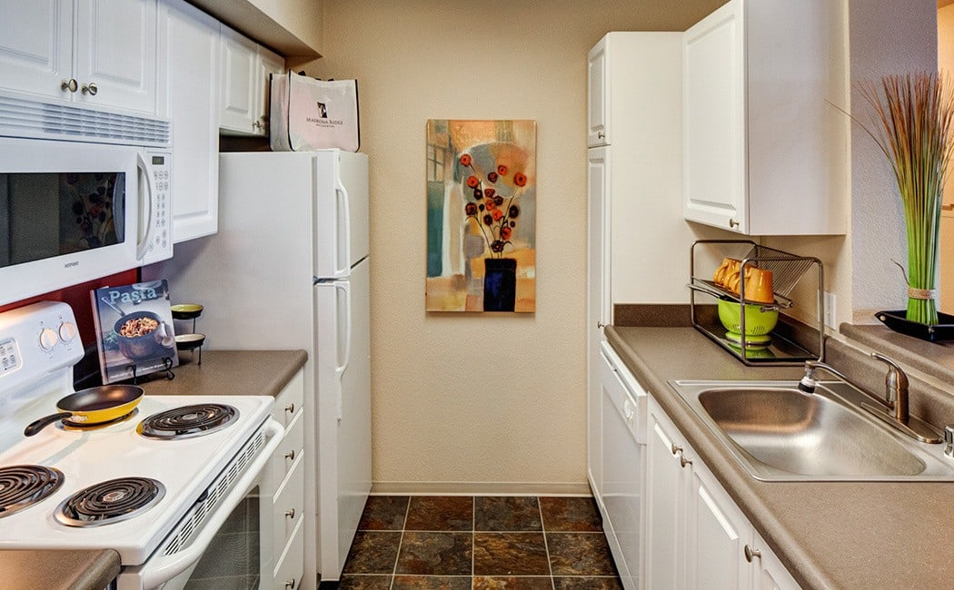 New kitchen appliances at apartments in Mukilteo, Washington