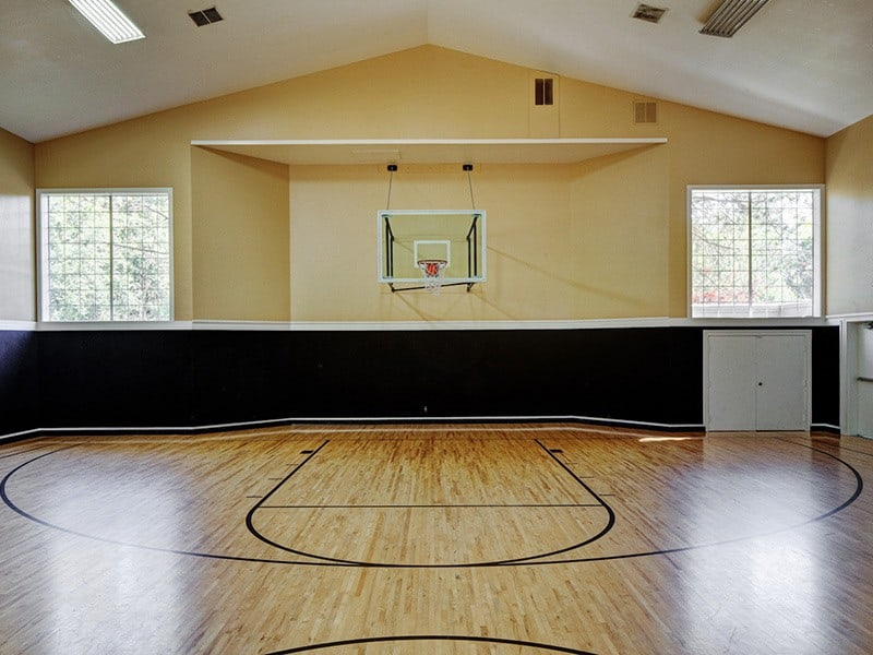 Indoor basketball at apartments in Mukilteo, Washington