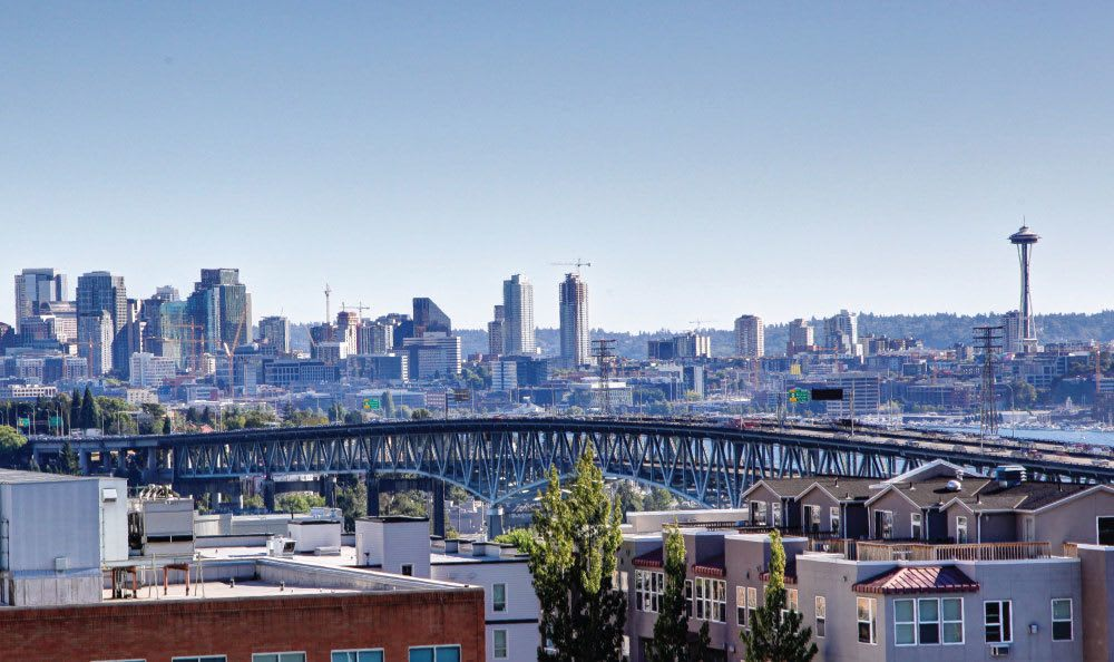 Breathtaking view of the city at our apartments in Bridges@11th in Seattle