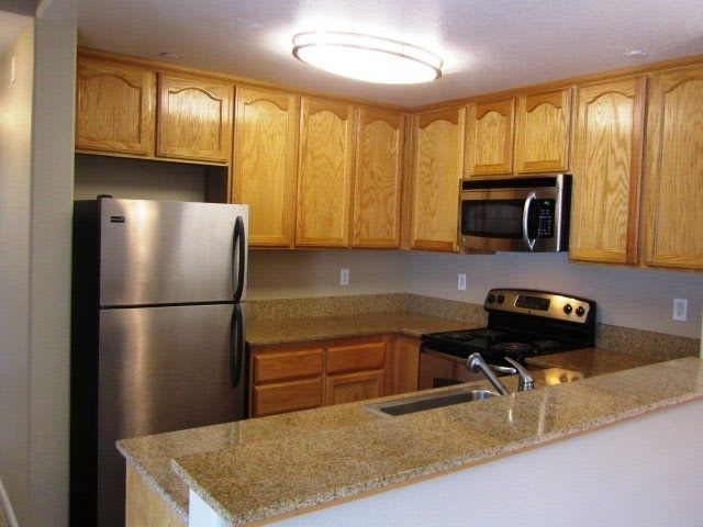 Granite countertops at luxury apartments in Napa, CA.