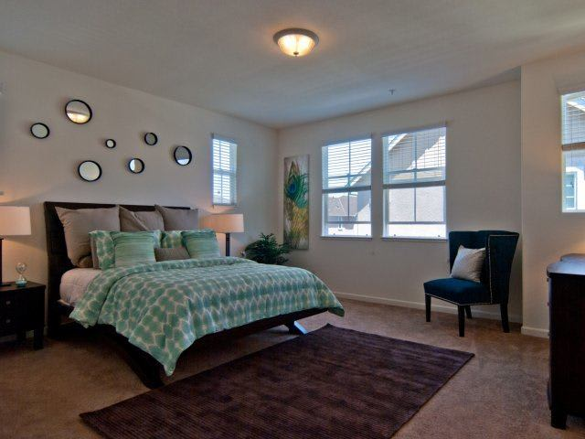 Spacious bedrooms at luxury apartments in Napa, CA.