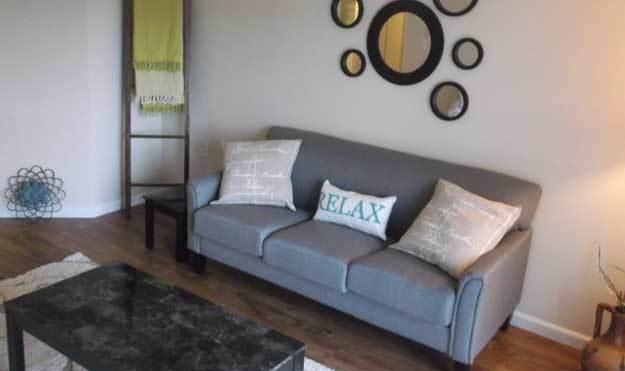 Living Room at Aspen Apartments