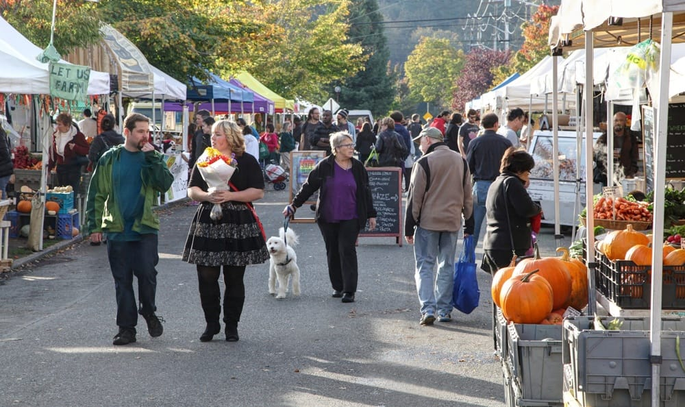 enjoy local culture like the fall farmers market near our apartments