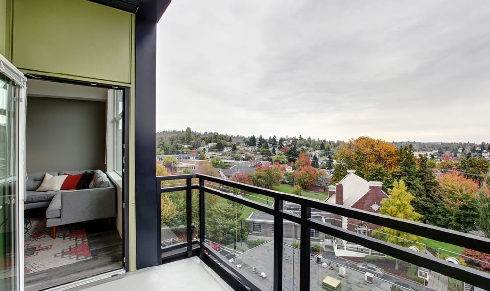 some apartments offer balconies with an amazing view