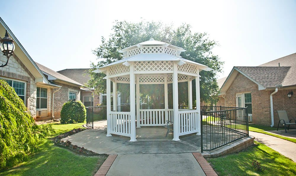 Enjoy a beautiful day from the gazebo