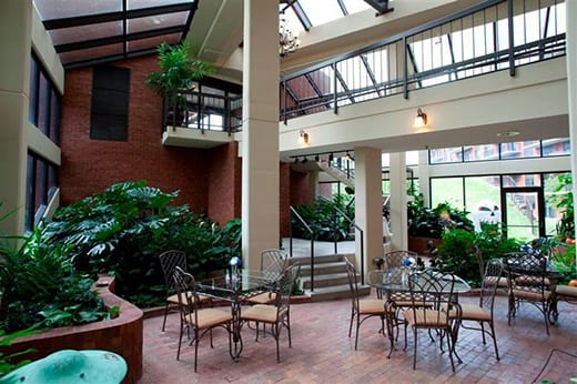 The atrium at Woodland Heights