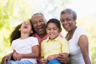Happy family enjoying memory care at St. Petersburg senior living