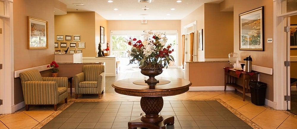 Lobby at Fort Pierce senior living.