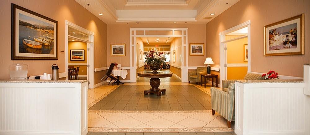 Elegant entryway to senior living in Fort Pierce.