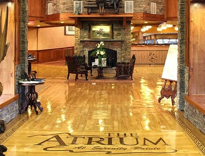Elegant entryway to Hot Springs senior living.