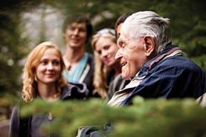 Happy family enjoying the sunshine at the senior living in Hot Springs