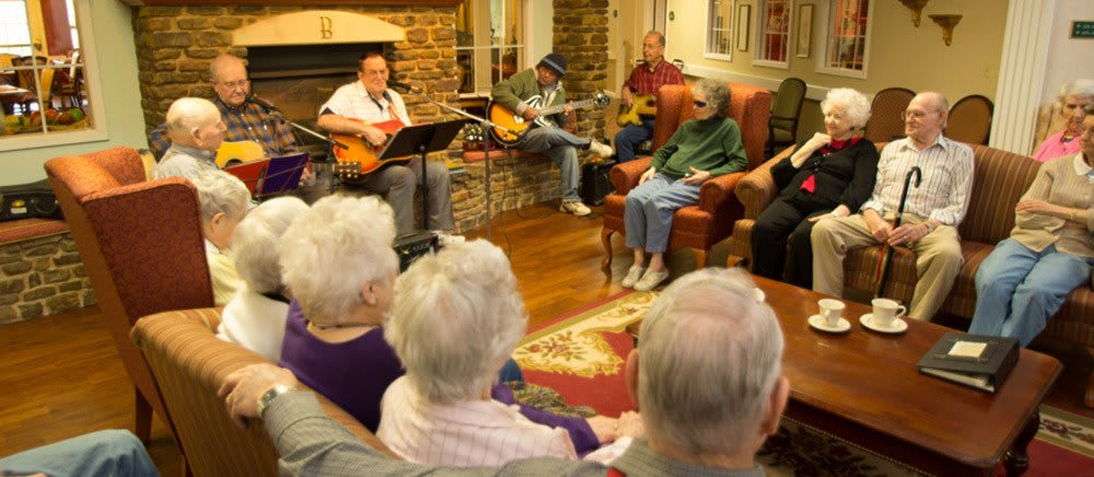 Fayetteville senior living includes musical activities.