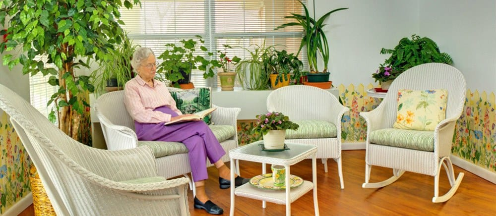 Fayetteville senior living includes a sun room.