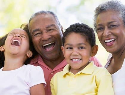Family laughing at Tallahassee senior living.