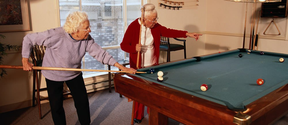 Tallahassee senior living includes an activity room.