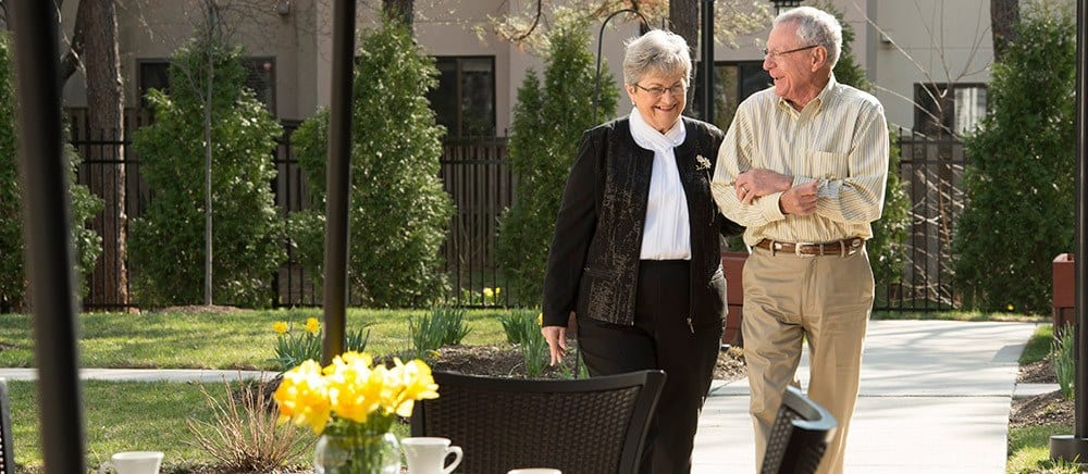Tallahassee senior living includes walking paths.