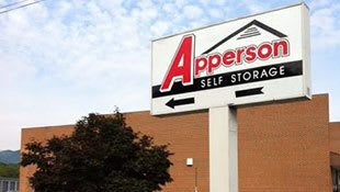 Sign for Apperson Self Storage in Salem, Virginia